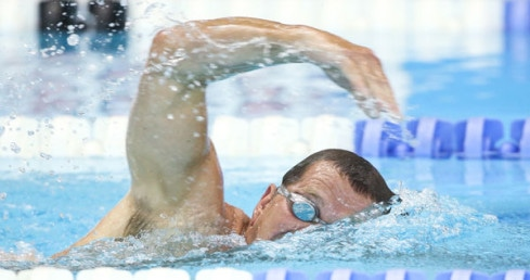 Masters swimmer freestyle