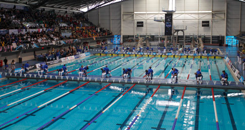 ASA County Team Championships format explained. Image of the two pools at the Inter Counties.