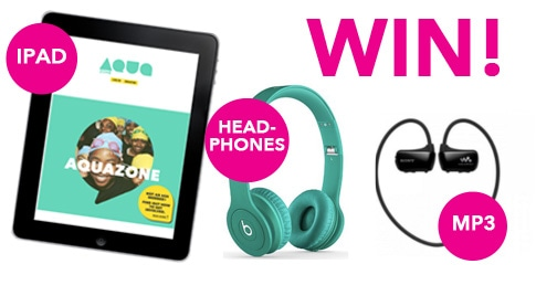Win an Ipad, Beats by Dr Dre Headphones and an MP3 player with AquaZone