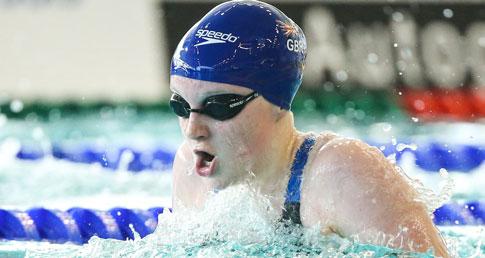 Abbie Wood swimming breaststroke