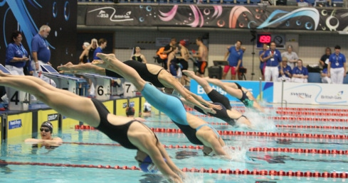 Diving start at National Masters Champs