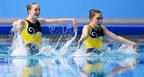 Duet in action. Information for spectators or ticket holders for the ASA Synchro Nationals