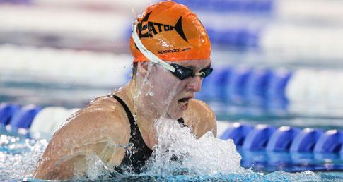 Helen Gorman swimming