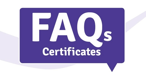 Frequently Asked Questions about certificates image