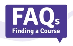 Frequently asked questions about finding a course