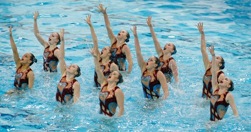 England Synchronised Swimming Free Combination