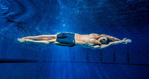 Man swimming. New Swimfit website launches.