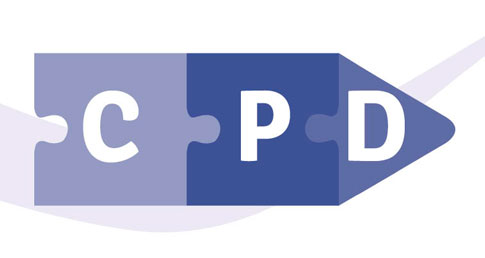 Jigsaw image with CPD written on three pieces. Find out more about CPD seminar details.