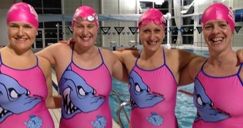 Basingstoke Bluefins Masters team spirit