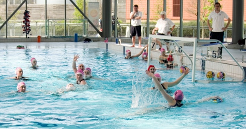 England water polo training