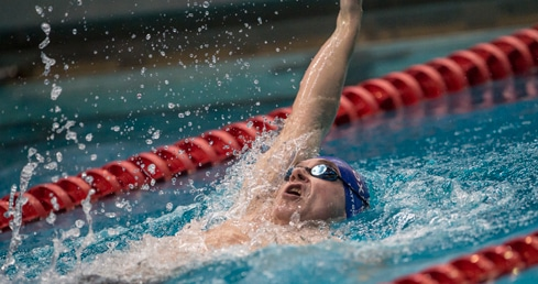 Masters swimmer backstroke image. Used for link to British Masters Champs 2015 live results page.