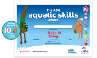 The ASA Aquatic Skills Award for Diving Stage 10