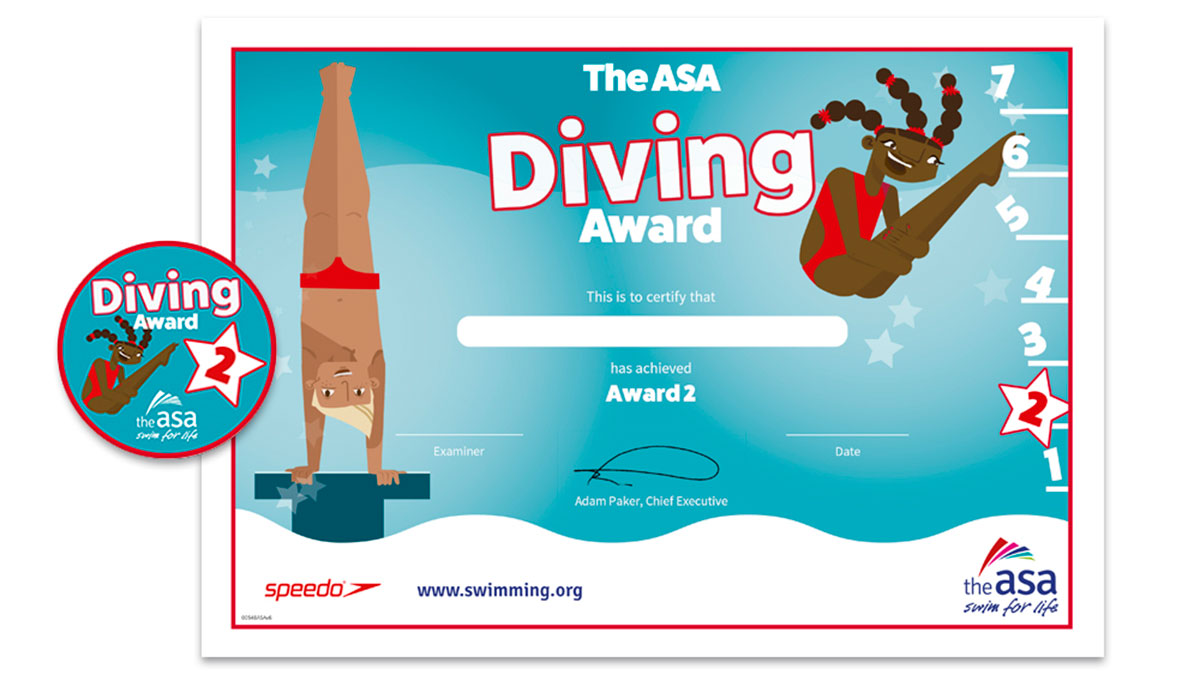 ASA Diving Awards Level 2 Certificate and Badge