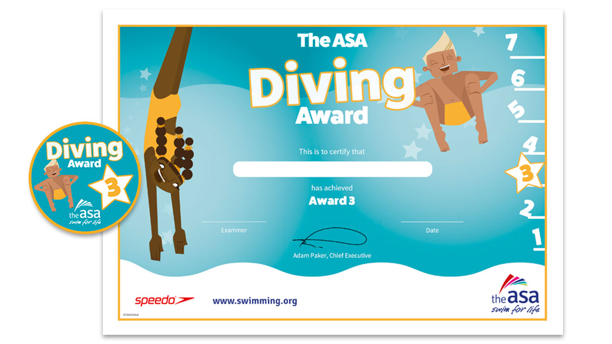 ASA Diving Awards Level 3 Certificate and Badge