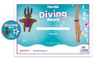 ASA Diving Awards Level 4 Certificate and Badge