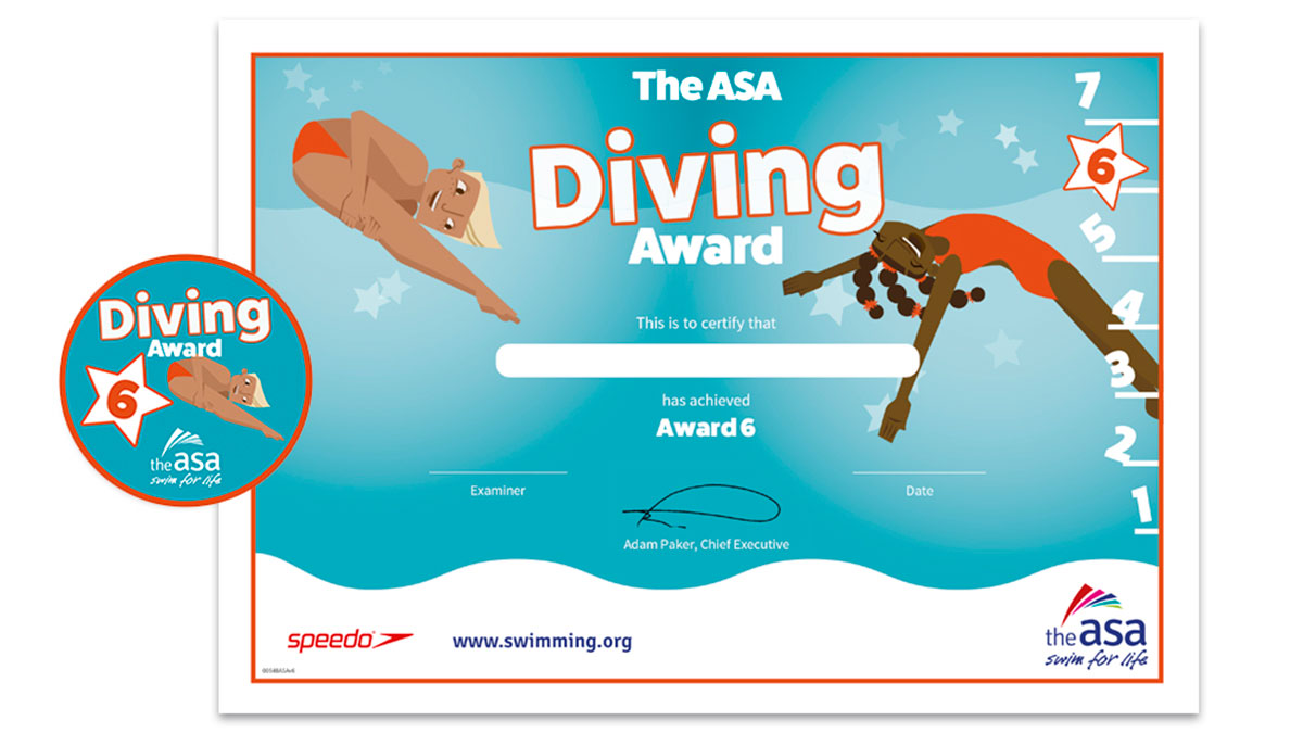 ASA Diving Awards Level 6 Certificate and Badge
