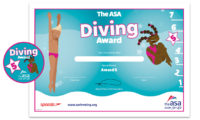 ASA Diving Awards Level 5 Certificate and Badge