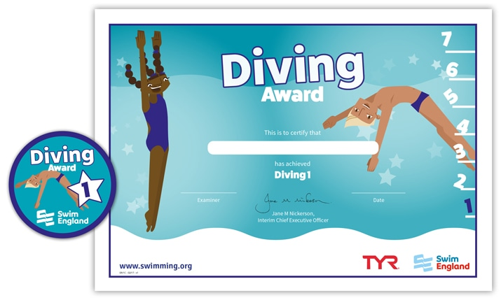 Swim England Diving Award: Stage 1