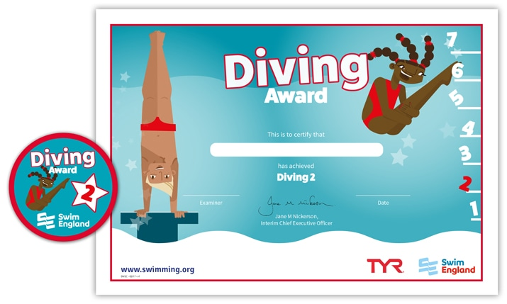 Swim England Diving Award: Stage 2