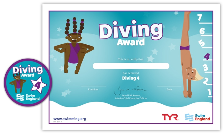 Swim England Diving Award: Stage 4