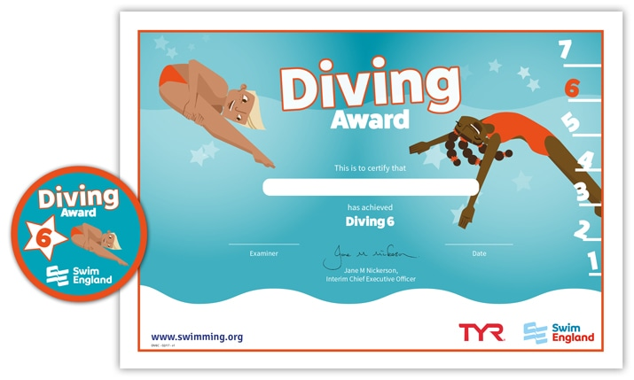 Swim England Diving Award: Stage 6