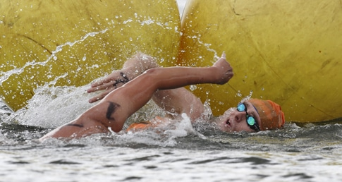 First session aggression at Masters Open Water Champs