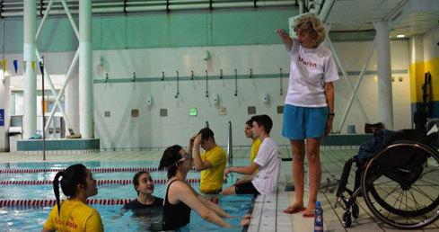 Sharon Bridge disability swimming coach volunteer