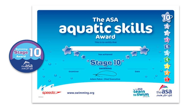 ASA Learn to Swim Stages 8-10