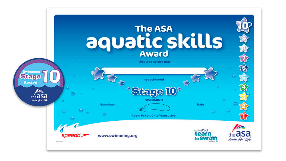 ASA Learn to Swim Awards 8-10
