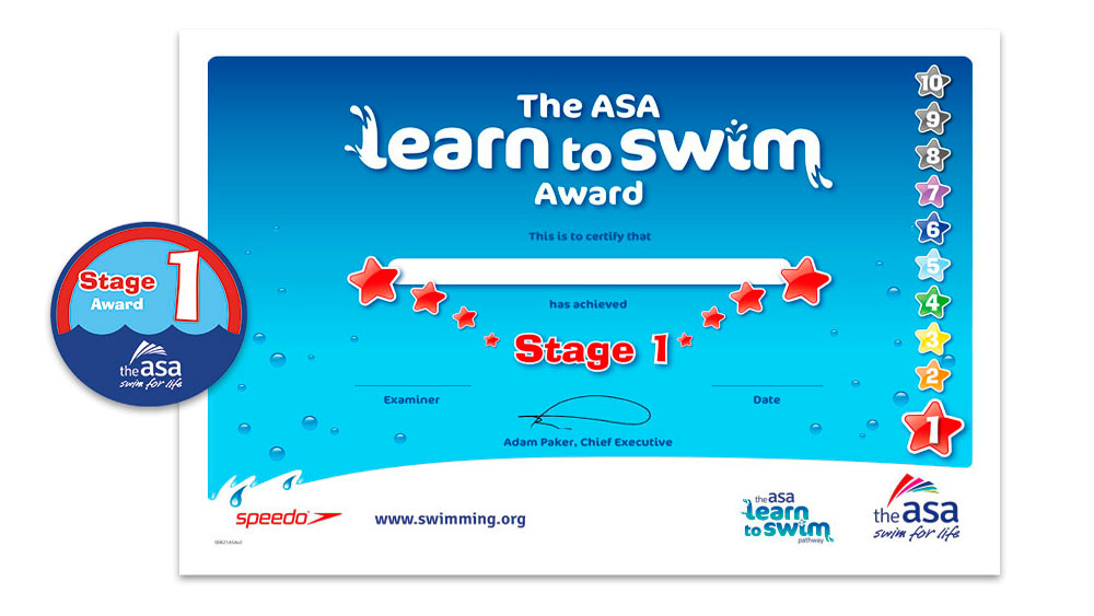 ASA Learn to Swim Awards 1-7