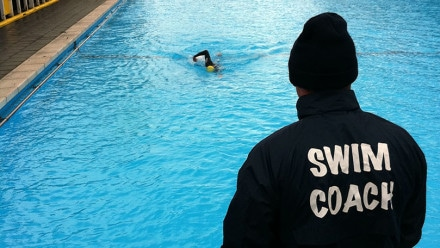 Becoming a swimming coach in the UK