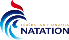 Federation Francaise Natation logo. Used by the French Swimming Association for events.
