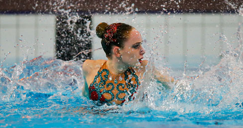 ASA National Synchro Champs 2016. Picture of defending Solo champion Hannah Randall