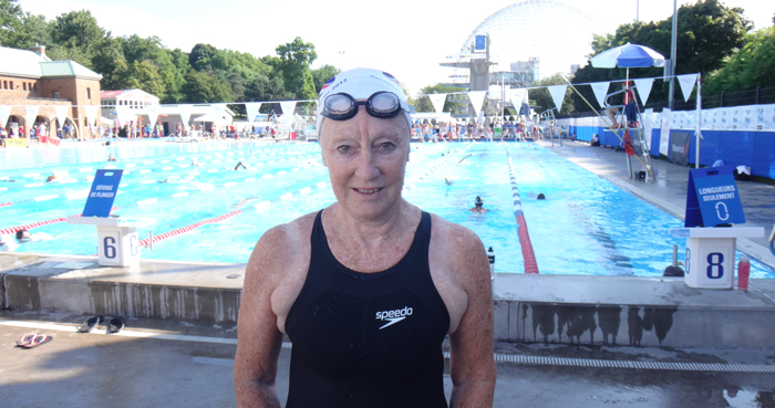 Diane Ford from the World Masters Swimming Championships in Montreal