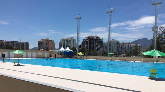 Maria Lenk Aquatics Centre training