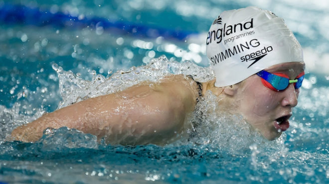 Swimmer development with England Programmes Swimming