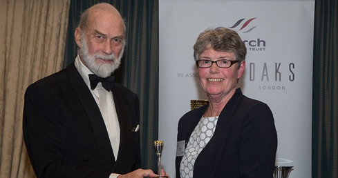 Jane Davies receives Torch Trophy Trust Award
