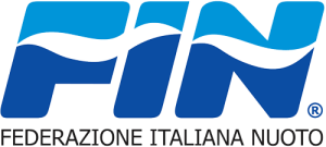FIN logo. Used for competitions hosted by the Italian Swimming Federation, Federazione Italiana Nuoto.
