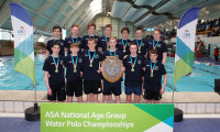 Sedgefield hold the ASA National Age Group Water Polo Championship Boys' U17 trophy