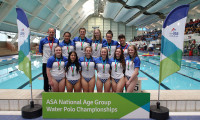 Exeter with their silver medals from the Girls' U17 Championships.