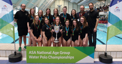 City of Manchester win the girls' U17 title at NAG Water Polo 2016