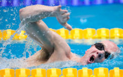 High five for men's fly swimmers in London