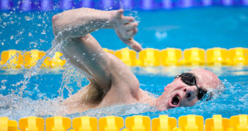 GB Masters swimmer Chris Dunn. Used for European Masters news story British men win nine golds at London 2016.