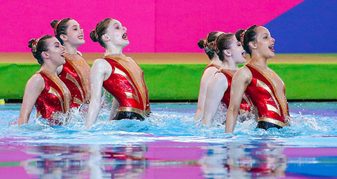 City of Leeds set synchro world record