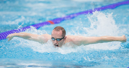 Dave Warren swimming butterfly. Used for news story British men win eight golds at London 2016.