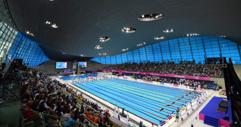 London Aquatics Centre gv for London 2016. Used for news story Molyneaux and Burrell win third golds of London 2016.