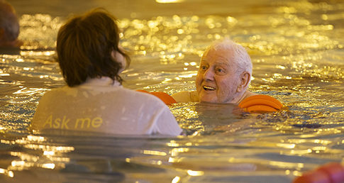 Image of Fred Braithwaite. Used for case study Swimming with dementia in Durham.