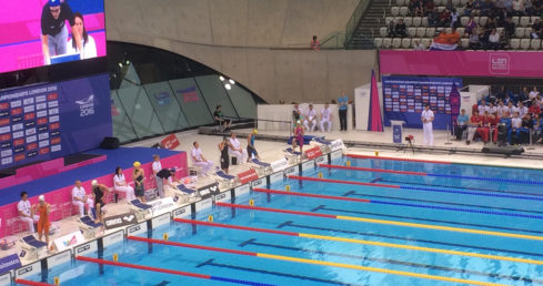 Sam Chadwick starter for European Championships 2016. Used for news story Masters swimmer Sam Chadwick.