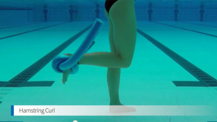 Tone your legs with pool based hamstring curls