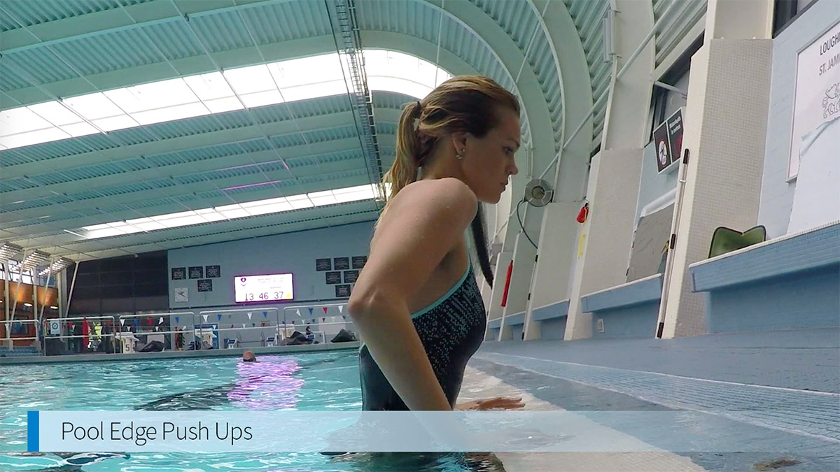 Tone your body with pool edge push ups